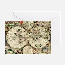World_Map_1689 Greeting Card