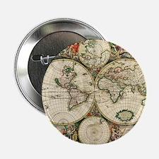 """World_Map_1689 2.25"""" Button"""