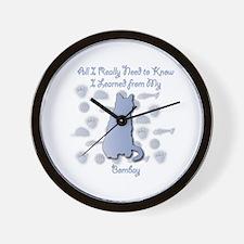 Learned Bombay Wall Clock