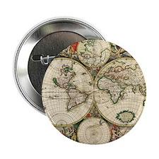 """World_Map_1689SCV2 2.25"""" Button"""