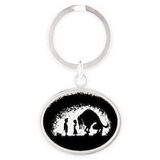 mydogsbigger Oval Keychain