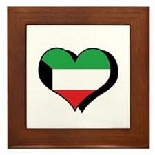 I Love Kuwait Framed Tile