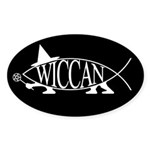 Wiccan Fish Oval Sticker