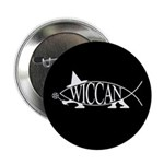 Wiccan Fish Button