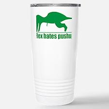 trex hates Travel Mug