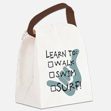 leanr to surf1 Canvas Lunch Bag