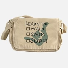 leanr to surf1 Messenger Bag