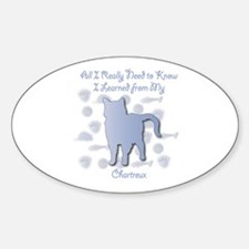 Learned Chartreux Oval Decal