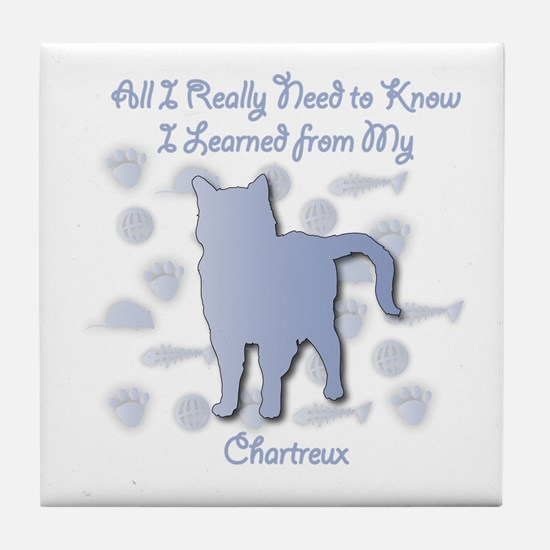 Learned Chartreux Tile Coaster