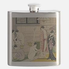 Kiyonaga bathhouse women SC2 Flask