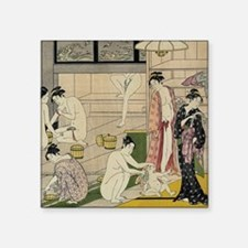 "Kiyonaga bathhouse women SC Square Sticker 3"" x 3"""