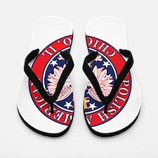 Chicago Illinois Polish Flip Flops
