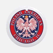 Chicago Illinois Polish Ornament (Round)