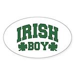 Irish Boy Oval Sticker