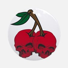 skullcherries Round Ornament