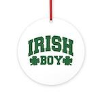 Irish Boy Ornament (Round)