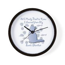 Learned Shorthair Wall Clock