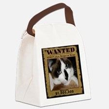 SimonWantedWIDE-a Canvas Lunch Bag