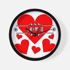 deco-love-hearts-large Wall Clock