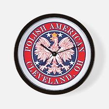 Cleveland Ohio Polish Wall Clock