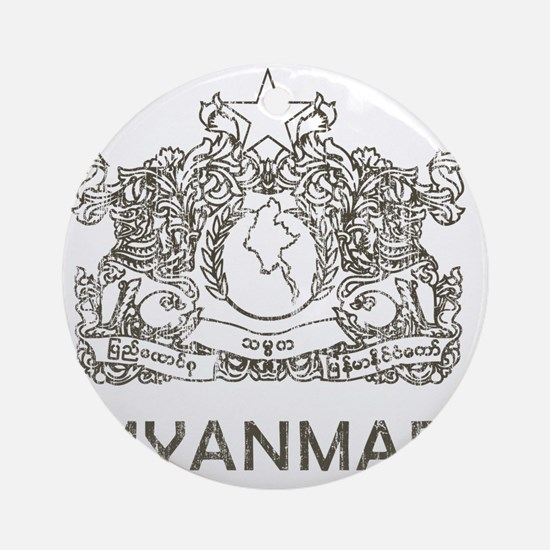 VintageMyanmar2 Round Ornament