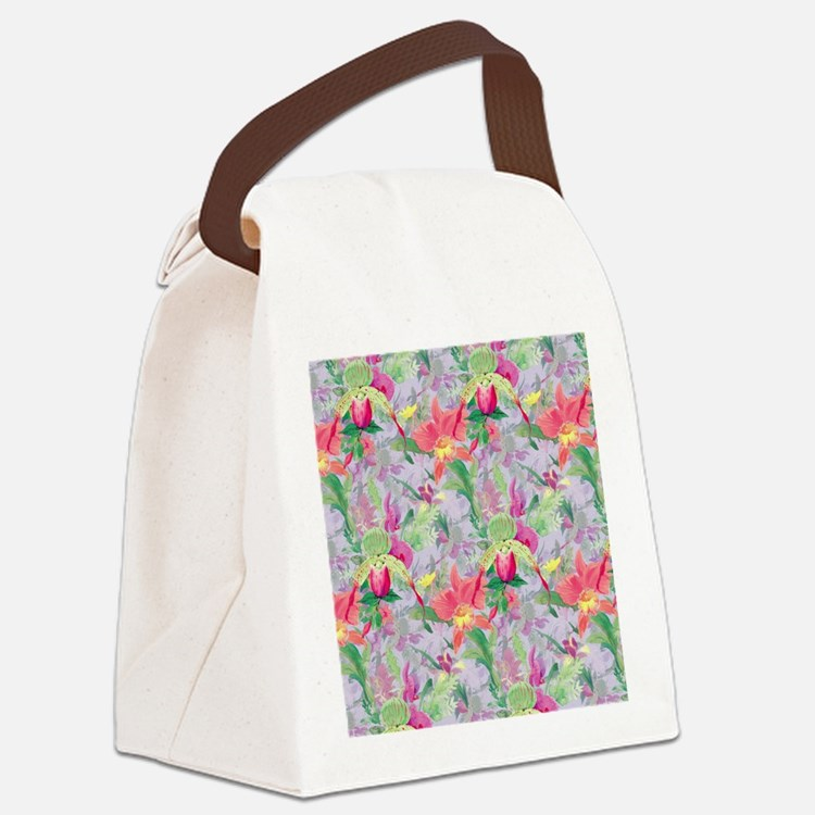 beautifulfloralsipads Canvas Lunch Bag