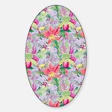 beautifulfloralsipads Sticker (Oval)