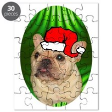 frenchbulldogtanxmas-oval Puzzle