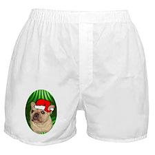 frenchbulldogtanxmas-oval Boxer Shorts