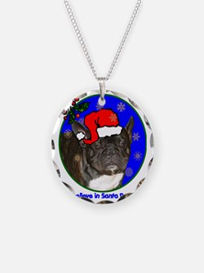 frenchbulldogblackxmas-shirt Necklace