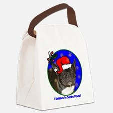 frenchbulldogblackxmas-shirt Canvas Lunch Bag