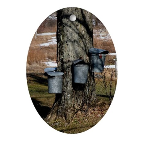 buckets Oval Ornament