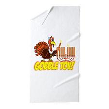 Gobble Tov Thanksgivukkah Turkey and Menorah Beach