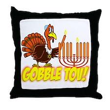 Gobble Tov Thanksgivukkah Turkey and Menorah Throw