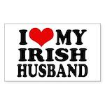 I Love My Irish Husband Rectangle Sticker