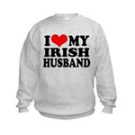 I Love My Irish Husband Kids Sweatshirt