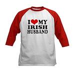 I Love My Irish Husband Kids Baseball Jersey