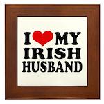 I Love My Irish Husband Framed Tile