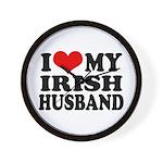 I Love My Irish Husband Wall Clock