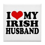 I Love My Irish Husband Tile Coaster