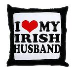 I Love My Irish Husband Throw Pillow
