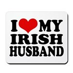 I Love My Irish Husband Mousepad