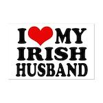 I Love My Irish Husband Mini Poster Print