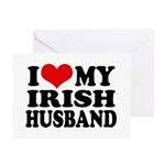 I Love My Irish Husband Greeting Cards (Package of