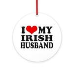 I Love My Irish Husband Ornament (Round)