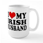 I Love My Irish Husband Large Mug
