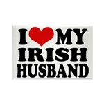 I Love My Irish Husband Rectangle Magnet
