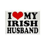 I Love My Irish Husband Rectangle Magnet (10 pack)