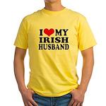 I Love My Irish Husband Yellow T-Shirt
