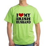 I Love My Irish Husband Green T-Shirt